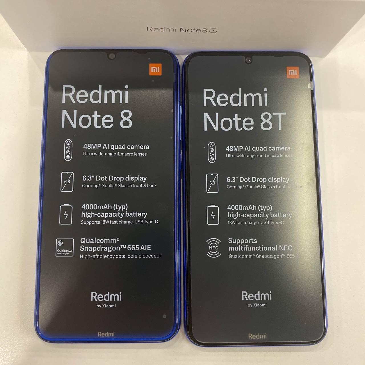 redmi Note 8T и Redmi Note 8