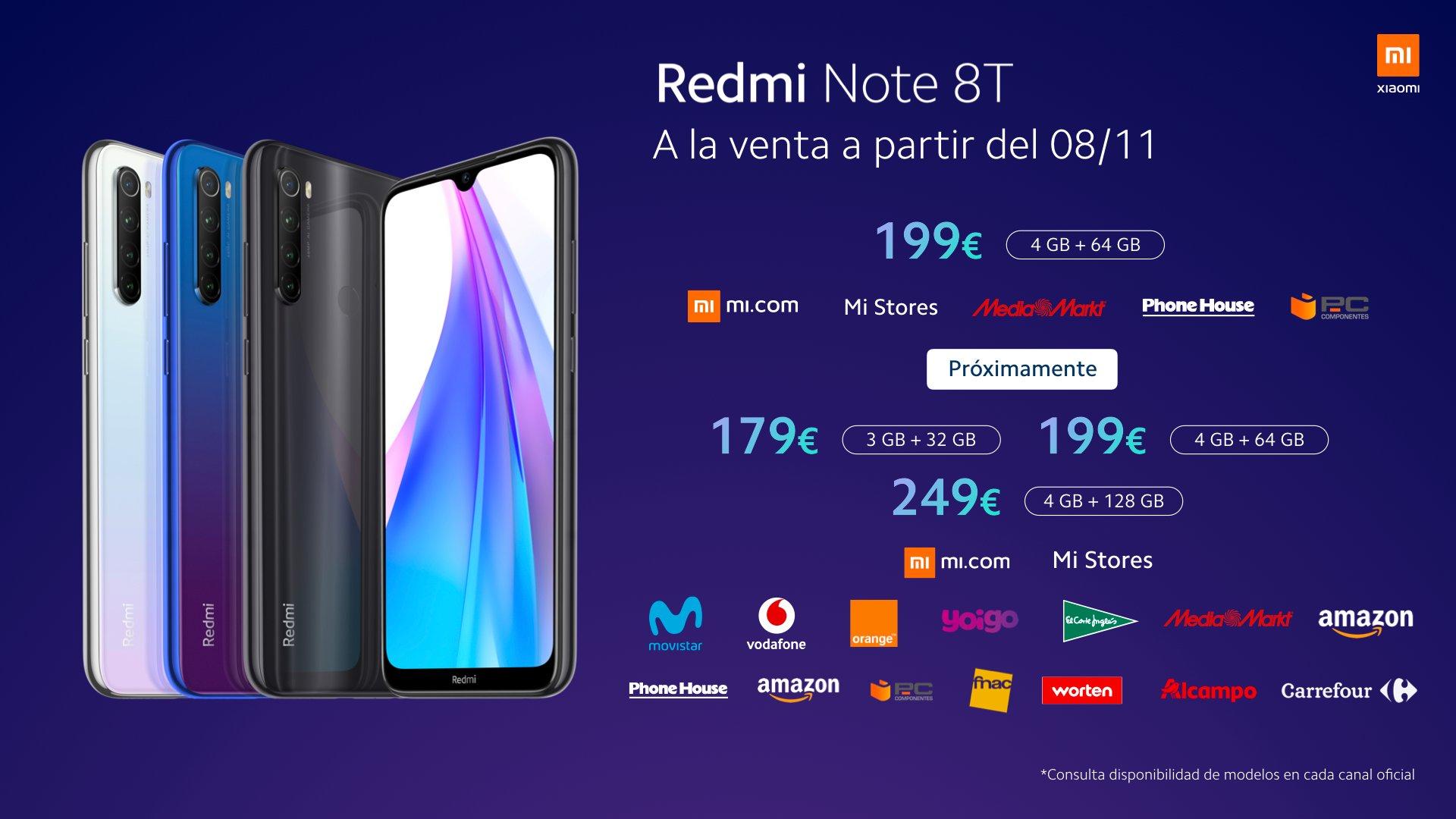 Цена Redmi Note 8T