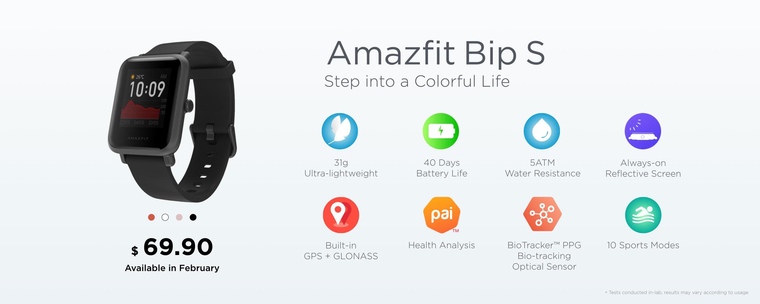 Amazfit Bip S обзор