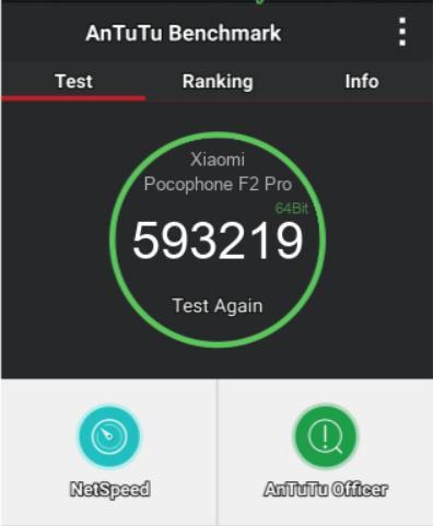 AnTuTu Pocophone F2 Pro