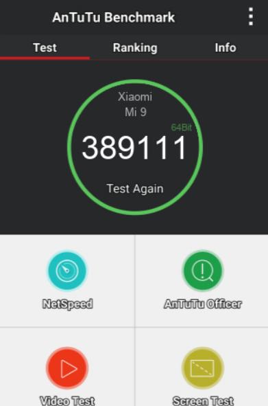 XIAOMI MI 9 6/128GB ANTUTU BENCHMARK TEST