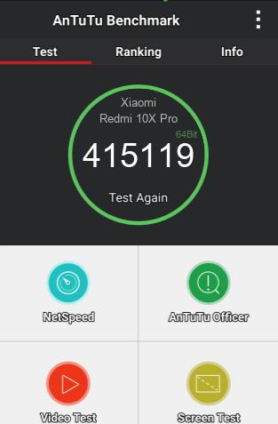XIAOMI REDMI 10X PRO 8/256GB ANTUTU BENCHMARK TEST
