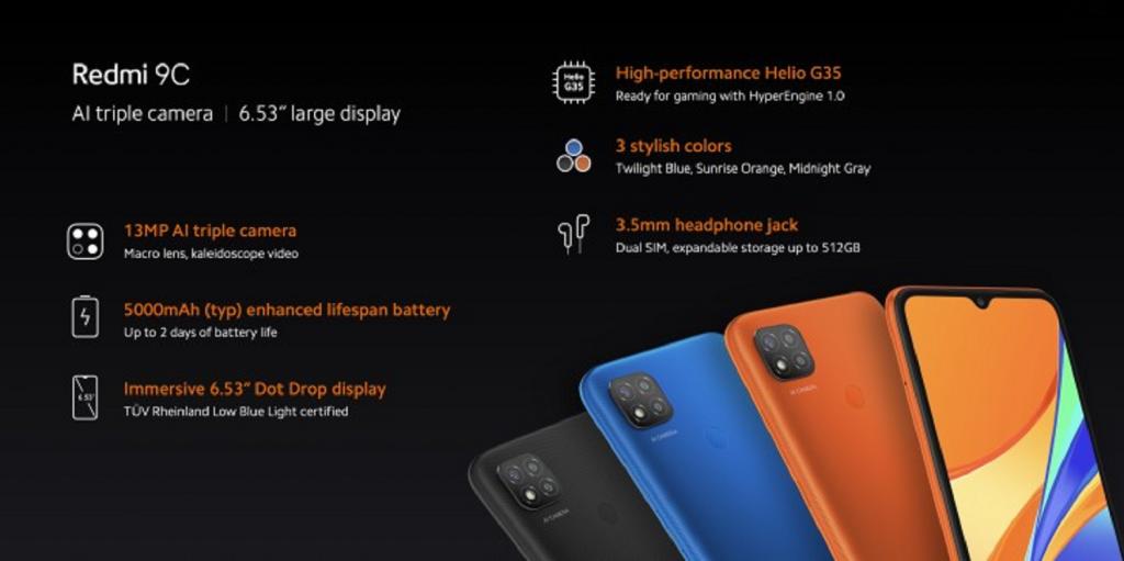 AnTuTu Xiaomi Redmi 9C 2/32Gb набрал 109489